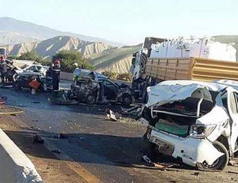 Deux morts et deux blessés dans un accident de la route à Mendès (Relizane)